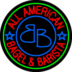 Custom All American Bagel And Barista LED Neon Sign 1