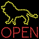 Custom Lion Open Led Sign 1