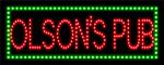 Custom Olsons Pub Led Sign 1