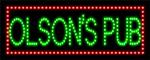 Custom Olsons Pub Led Sign 2