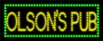Custom Olsons Pub Led Sign 4