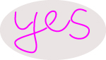 Custom Pink Yes Neon Sign 2