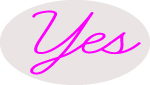Custom Pink Yes Neon Sign 3