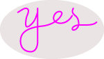 Custom Pink Yes Neon Sign 4