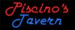 Custom Piscinos Tavern Led Sign 1