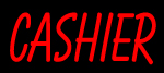 Custom Red Cashier Neon Sign 3