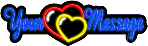 Custom Heart Neon Sign
