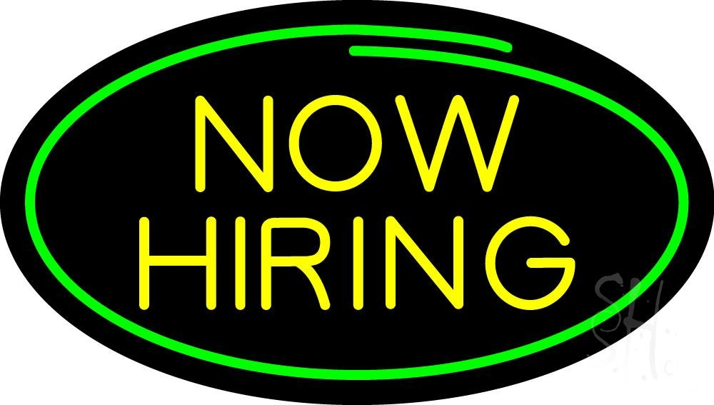 oval now hiring neon sign hiring neon signs every thing neon. Black Bedroom Furniture Sets. Home Design Ideas