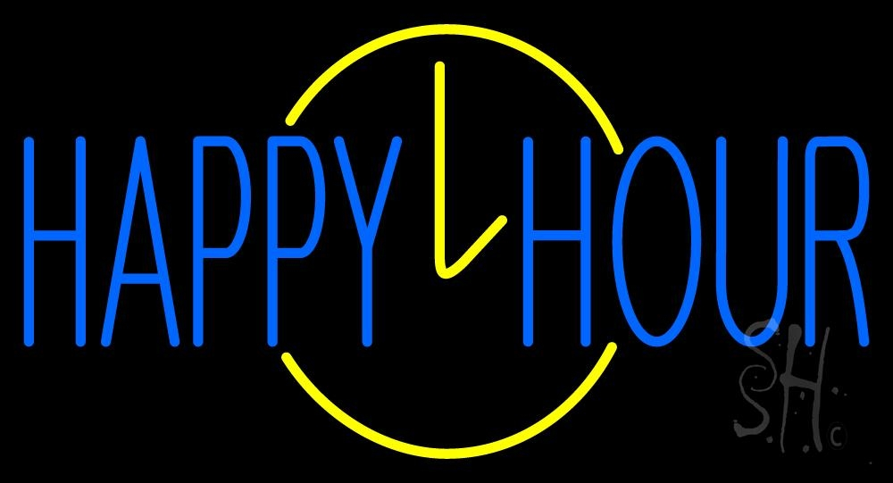 Happy Hour Neon Sign | Happy Hour Neon Signs - Every Thing