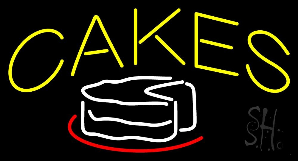 """The Sign Store Yellow Cakes Outdoor Neon Sign 20"""" Tall x 37"""" Wide x 3.5"""" Deep at Sears.com"""