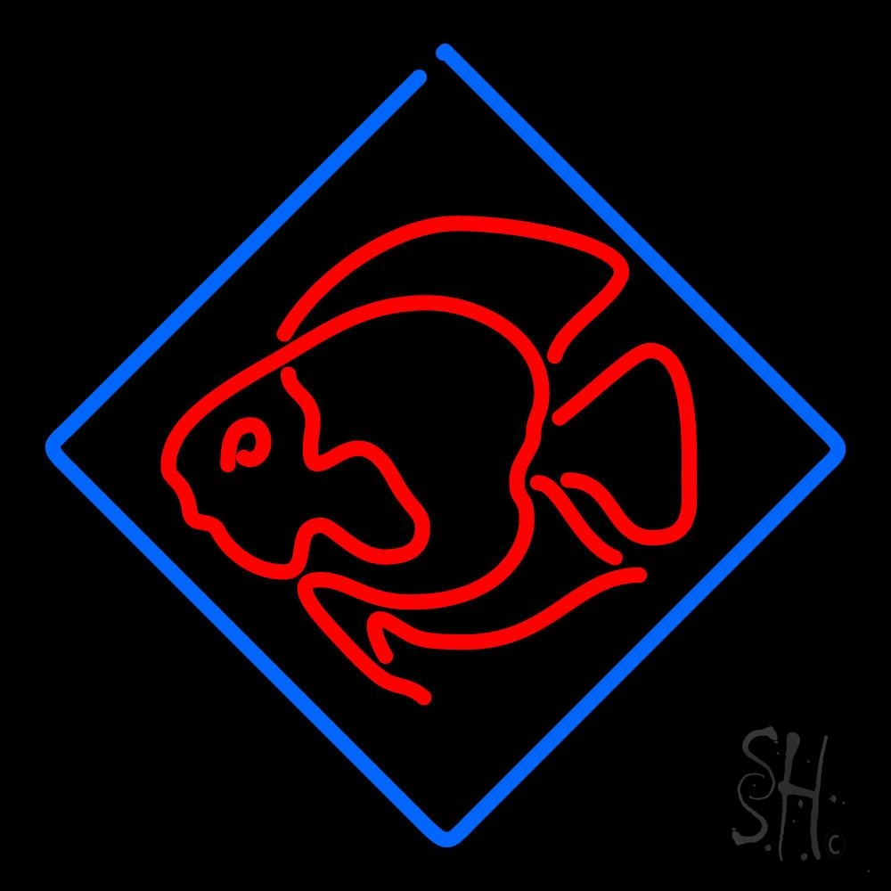 Fish logo neon sign fish neon signs every thing neon for Fish neon sign