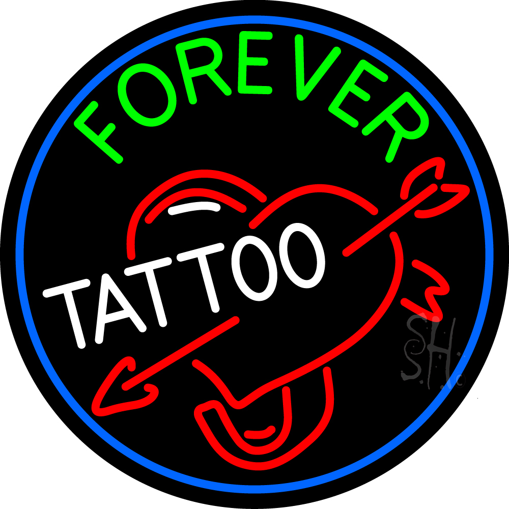Forever tattoo neon sign tattoo neon signs every thing for Neon tattoo signs