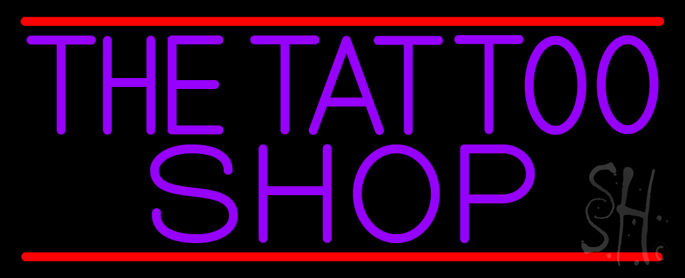Purple the tattoo shop neon sign tattoo neon signs every for Neon tattoo signs