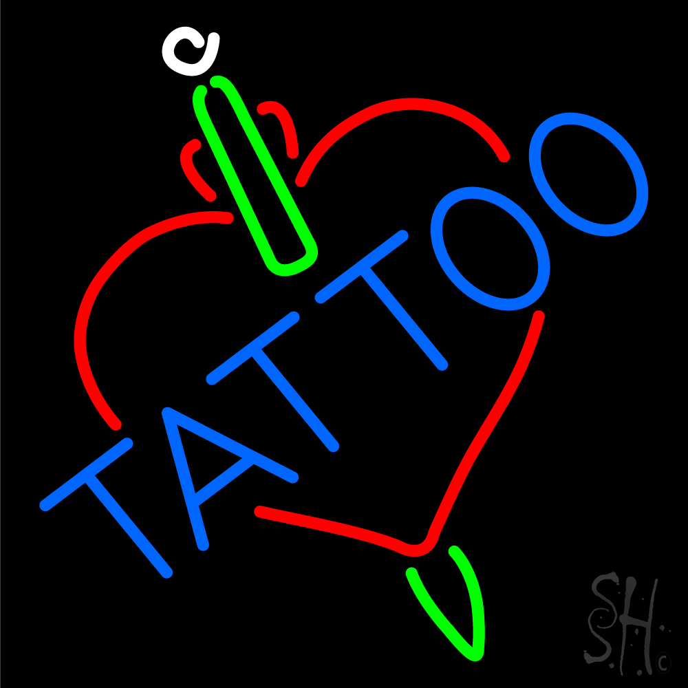 Tattoos inside heart neon sign tattoo neon signs every for Neon tattoo signs