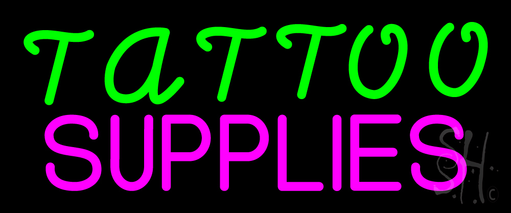 Tattoo supplies neon sign tattoo neon signs every thing neon for Neon tattoo signs