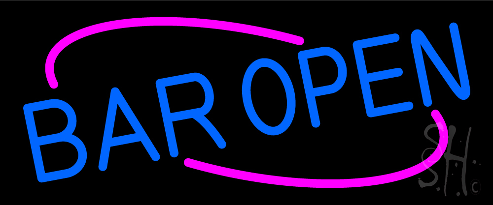 Blue Open Bar Neon Sign|Bar Neon Signs- Every Thing Neon