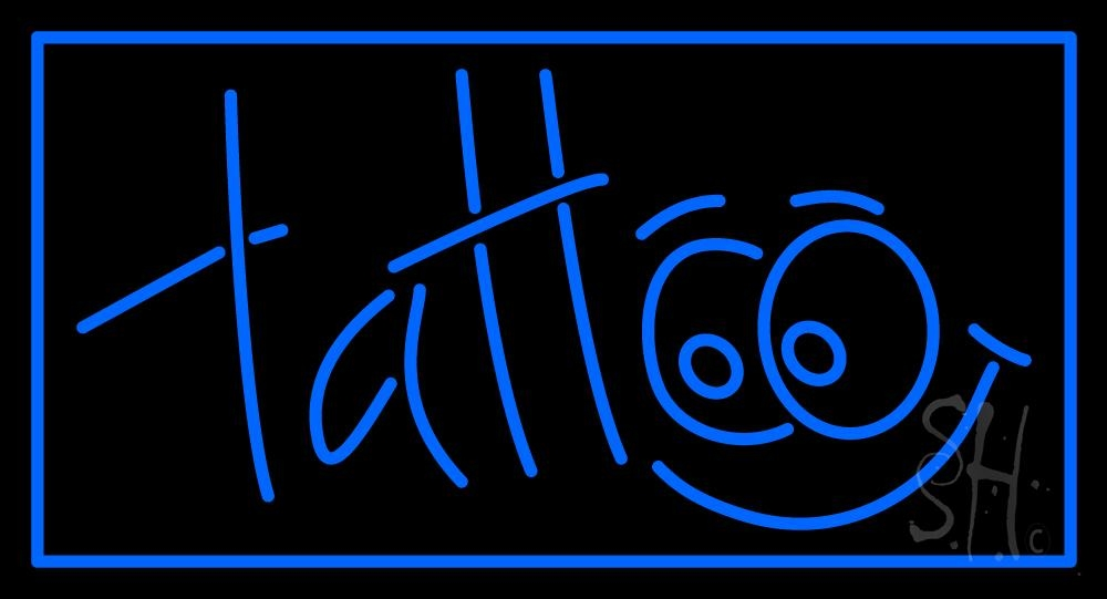 Blue tattoo neon sign tattoo neon signs every thing neon for Neon tattoo signs
