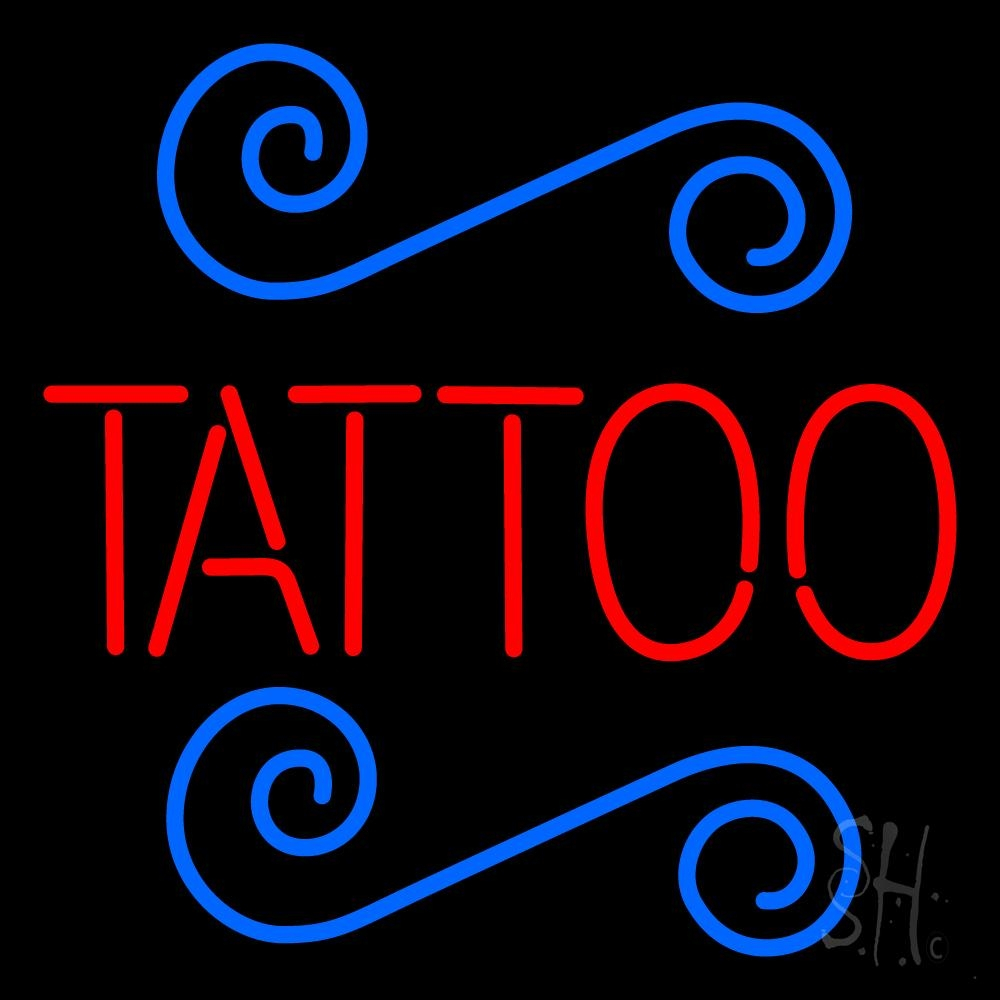 Red tattoo neon sign tattoo neon signs every thing neon for Neon tattoo signs