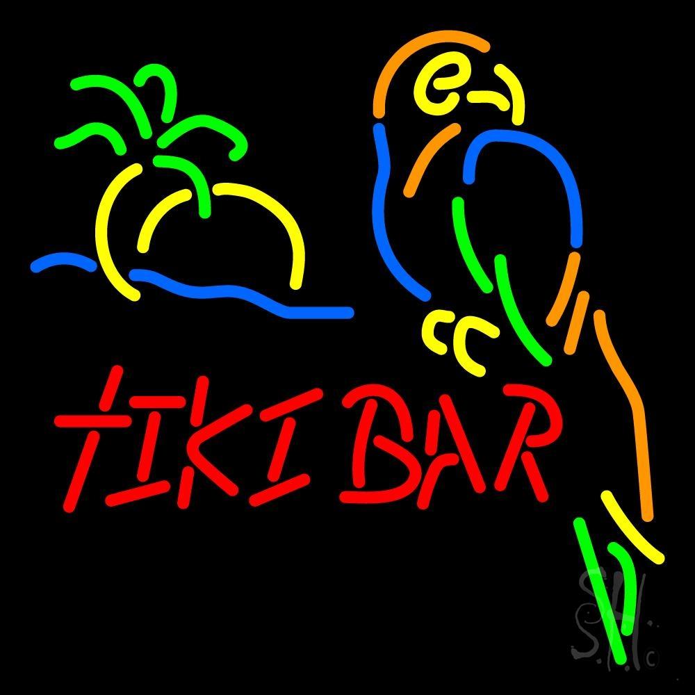 Tiki Bar Neon Sign | Bar Open Neon Signs