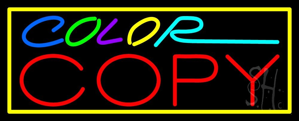 """The Sign Store Multi Colored Color Copy With Border Outdoor Neon Sign 13"""" Tall x 32"""" Wide x 3.5"""" Deep at Sears.com"""