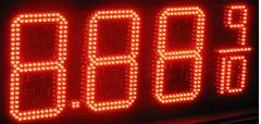 "LED GAS PRICE-Digital Gasoline LED SIGNS 12"" Digits"