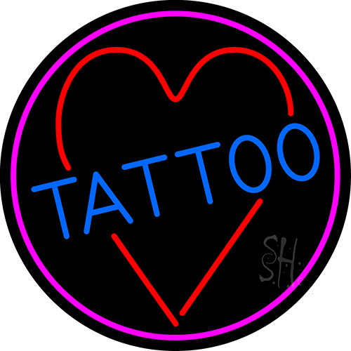 Tattoo heart neon sign tattoo neon signs every thing neon for Neon tattoo signs