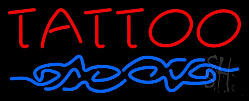Red tattoo design neon sign tattoo neon signs every thing for Neon tattoo signs