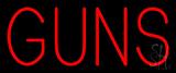 Guns Neon Sign