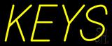 Yellow Keys Neon Sign