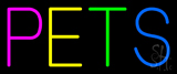 Pets Multicolored Neon Sign