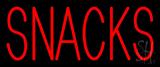 Red Block Snacks Neon Sign