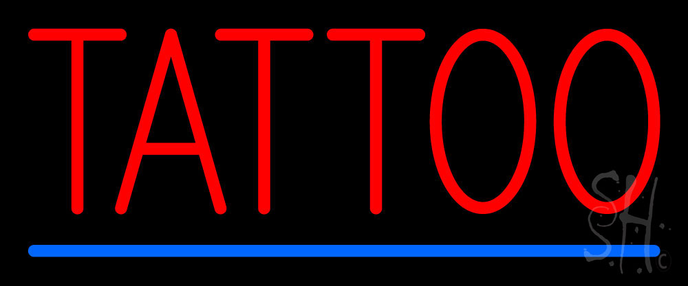 Red tattoo blue line neon sign tattoo neon signs every for Neon tattoo signs