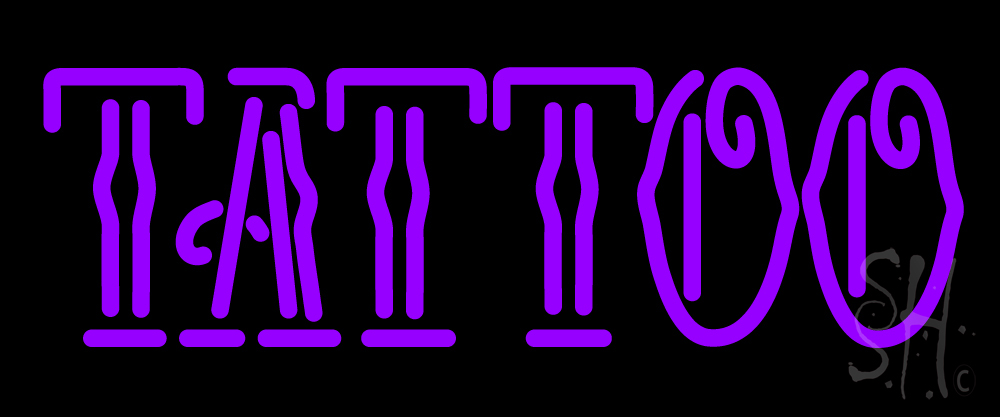 Purple tattoo neon sign tattoo neon signs every thing neon for Neon tattoo signs