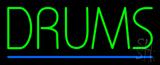 Drums Block Blue Line Neon Sign