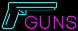 Guns Logo Neon Sign