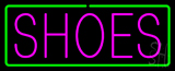 Pink Shoes Green Border Neon Sign