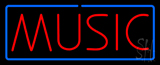 Music Blue Border Neon Sign