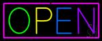 Open - Multicolor Neon Sign