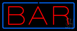 Simple Bar Neon Sign With Blue Border
