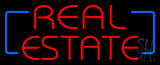 Red Real Estate Neon Sign