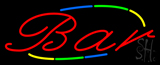 Multi Colored Cursive Bar Neon Sign