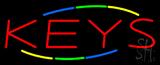 Multicolored Deco Style Keys Neon Sign