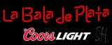 Coors Light La Bala de Plata Beer Neon Sign
