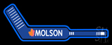 Molson Hockey Stick Beer Neon Sign
