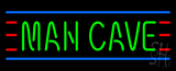 Man Cave Small Red Green and Blue Neon Sign