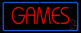 Red Games Blue Border Neon Sign