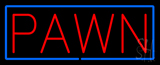 Red Pawn Blue Border Neon Sign