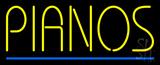 Pianos Blue Border Neon Sign