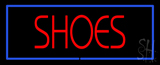Red Shoes Blue Border Neon Sign