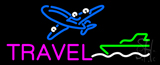 Pink Travel with Logo Neon Sign